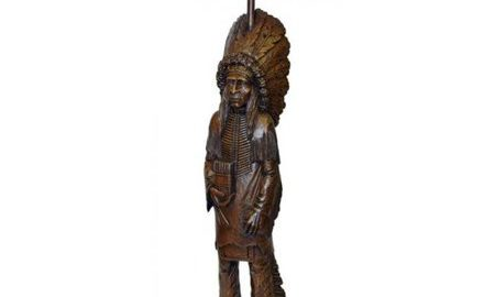 Hickory Manor Home 10020TP WL Cigar Store Indian Toilet Paper Holder, Walnut
