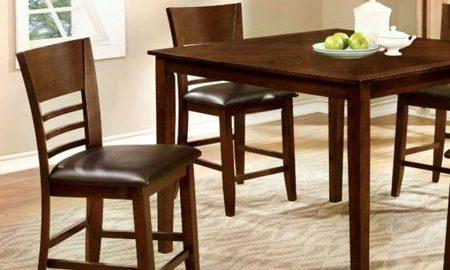 Hillsview II Dark Brown Five Piece Counter Height Table