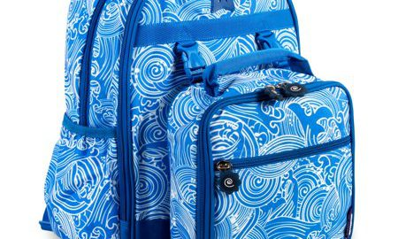 J World Duet Backpack With Detachable Lunch Bag, Wave