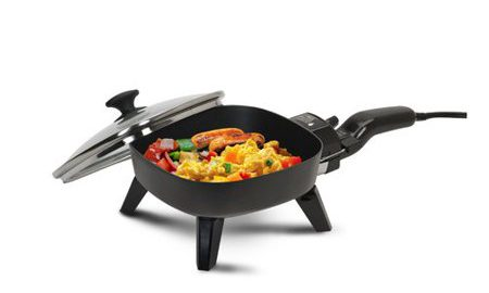 """Elite Cuisine 7"""" Electric Skillet with Glass Lid"""