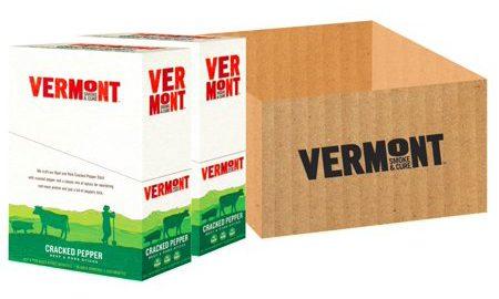 Vermont Smoke & Cure Meat Sticks, Beef & Pork, Antibiotic Free, Gluten Free, Cracked Pepper, 1oz Stick, 48 Count