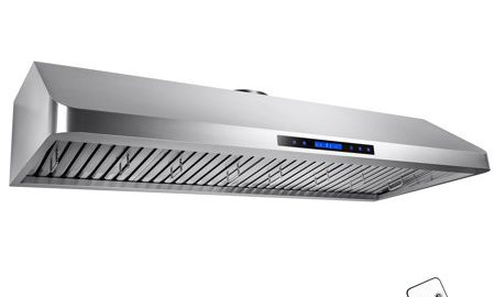 """AKDY 54"""" Dual Motor Under Cabinet Touch Screen Display Stainless Steel Powerful Kitchen Cooking Vent Range Hood"""