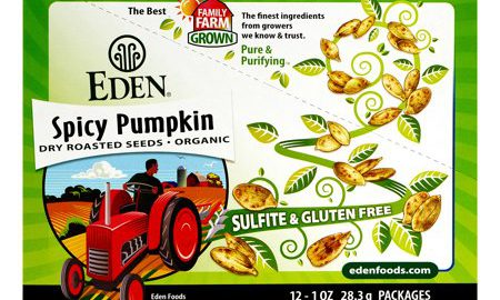 Eden Foods Organic Pumpkin Seeds, Dry Roasted and Spicy, 1 Oz, 12 Count