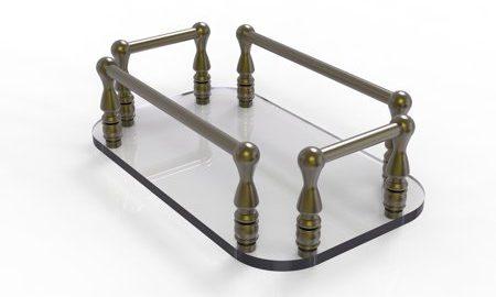Vanity Top Glass Guest Towel Tray