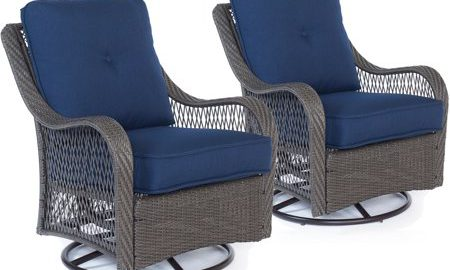 Hanover Orleans Outdoor Swivel Rocking Chairs