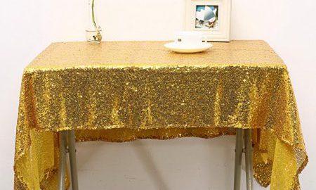 100x150cm Rectangular Wedding Party Event Decor Sequin Table Cloth