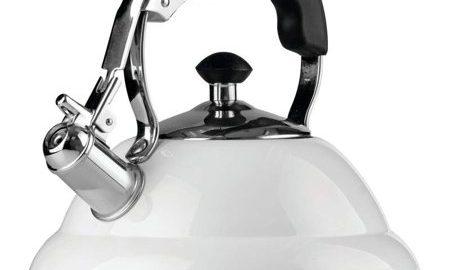 Chef's Secret ® 2.6 liter Gloss White Stainless Steel Tea Kettle with Copper Capsule Bottom