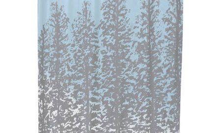 Hidden Forrest Floral Print Shower Curtain