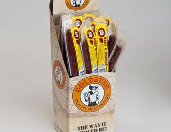 BEEF STICKS BEEF AND CHEESE 1.25 OZ 2-24 PC DISPLAY BOX, Case Pack of 48