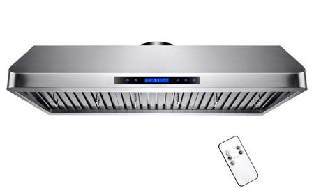 """AKDY 42"""" Under Cabinet Stainless Steel Powerful LED Display Touch Screen Cooking Fan Kitchen Vent Range Hood"""