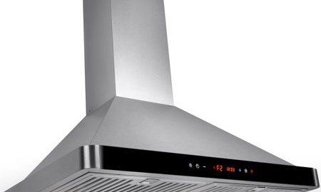 "AKDY 30"" Stainless Steel Kitchen Wall Mount Luxury LED Black Control Panel Range Hood"