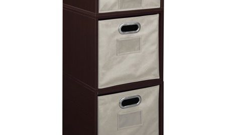 Niche Cubo Storage Set- 2 Full Cubes/1 Half Cube with Foldable Storage Bins- Truffle/Natural