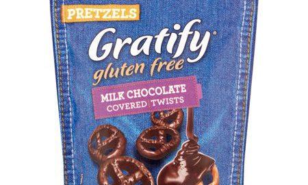 Gratify Gluten Free Milk Chocolate Covered Twists Pretzels, 5.5 oz, 8 pack